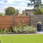Zaun vom Garten aus